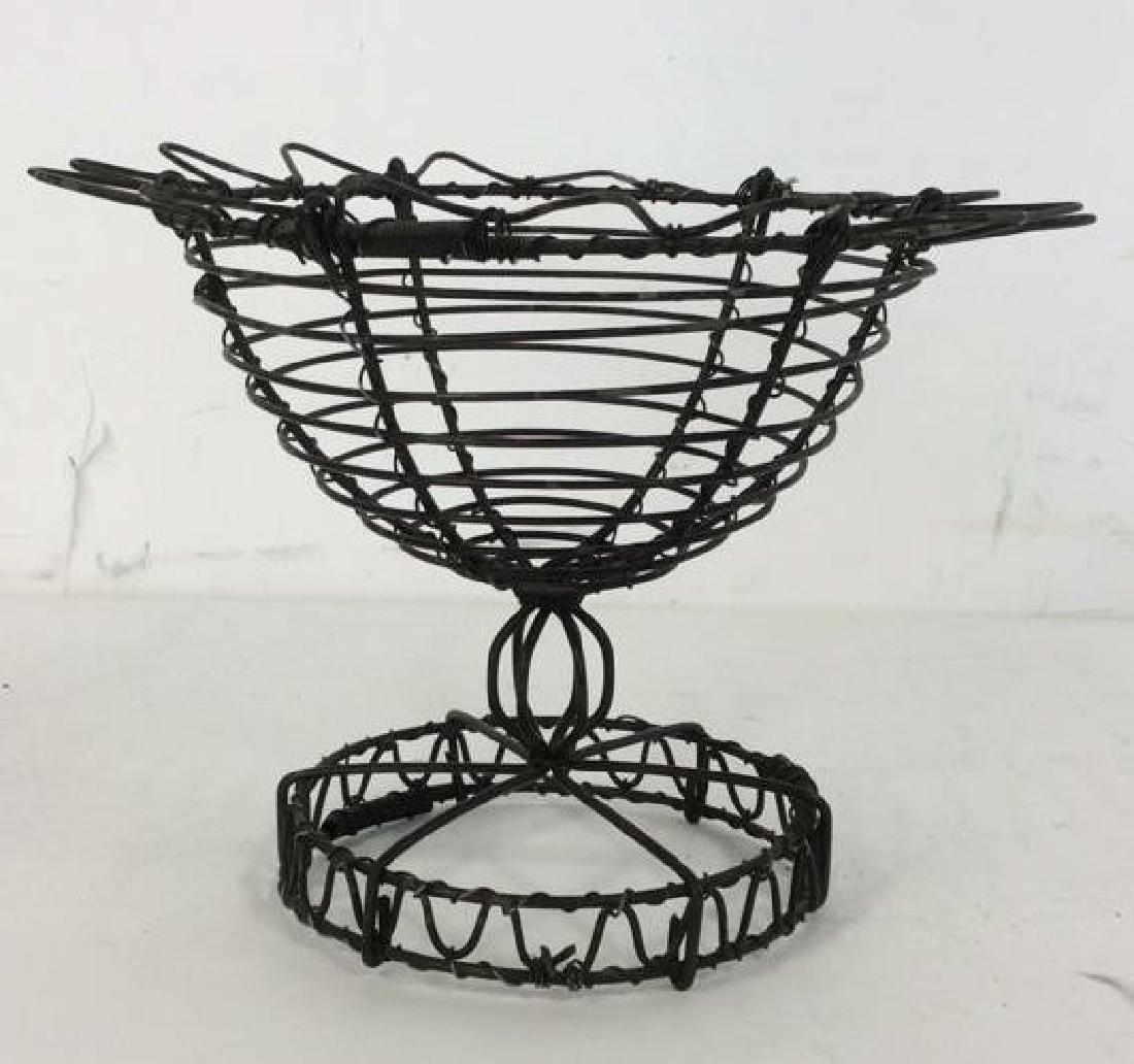 Vintage Hand Made Wire Egg Basket - 2