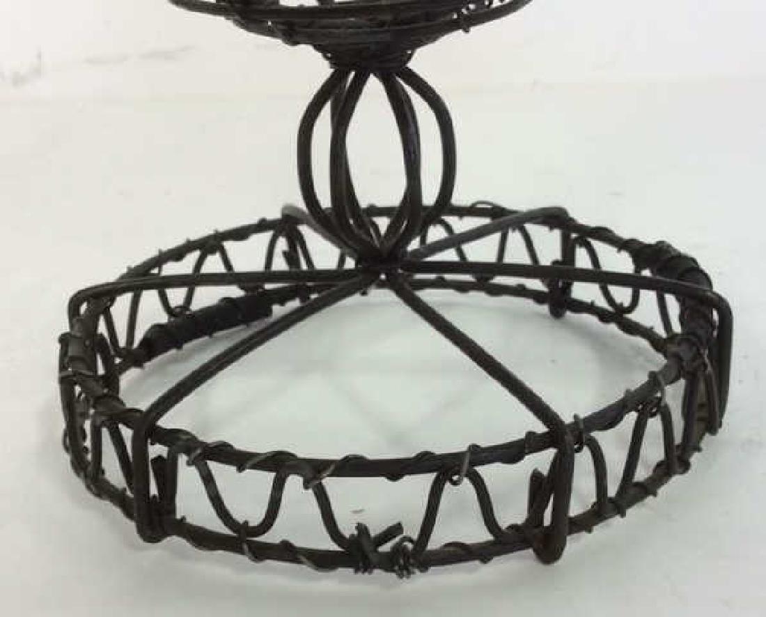Vintage Hand Made Wire Egg Basket - 3
