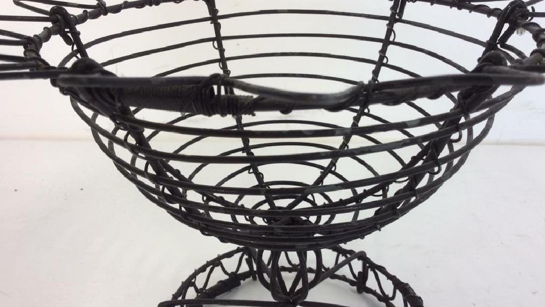 Vintage Hand Made Wire Egg Basket - 4