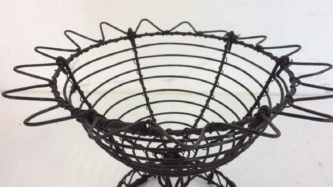 Vintage Hand Made Wire Egg Basket - 5
