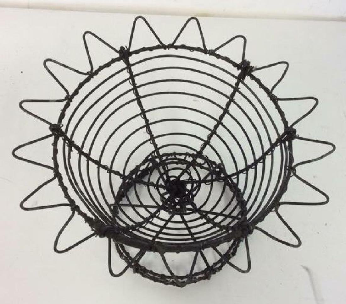 Vintage Hand Made Wire Egg Basket - 6