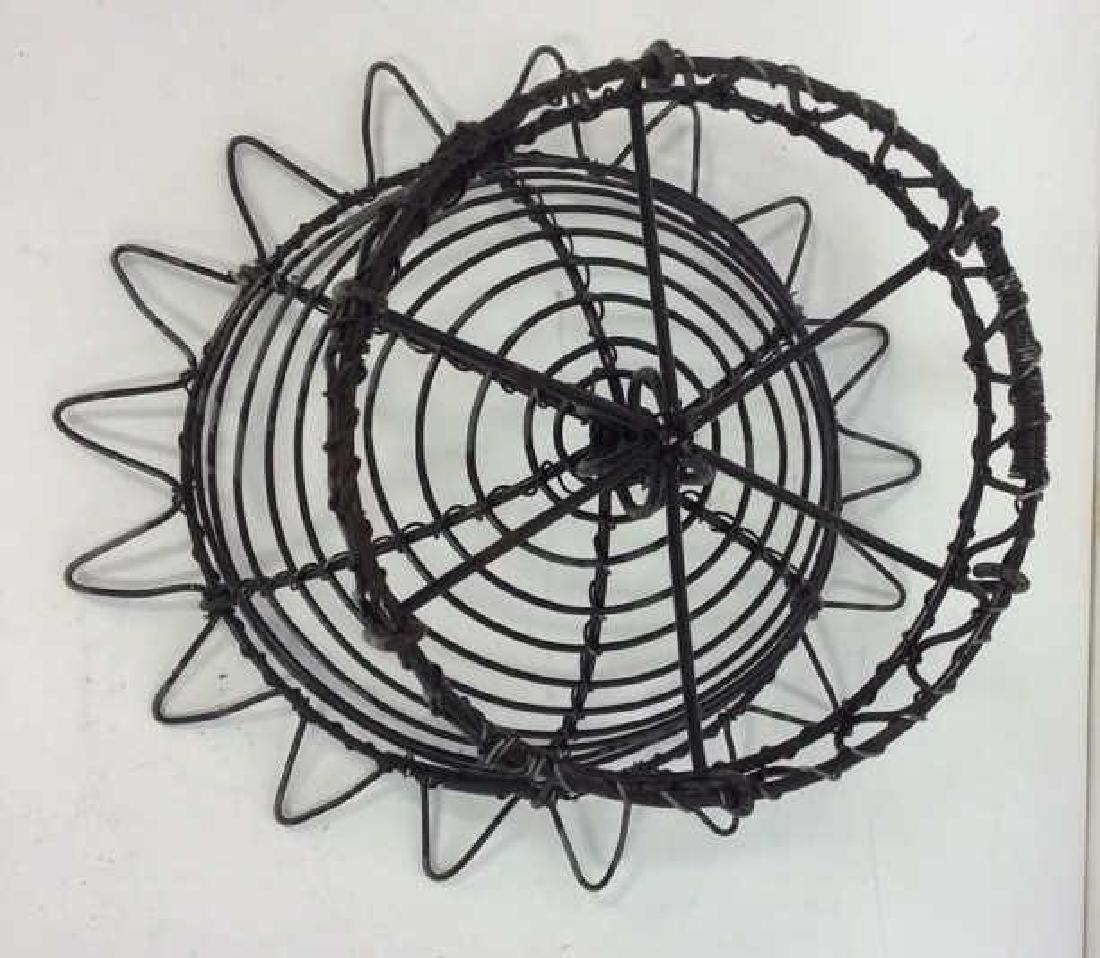 Vintage Hand Made Wire Egg Basket - 7