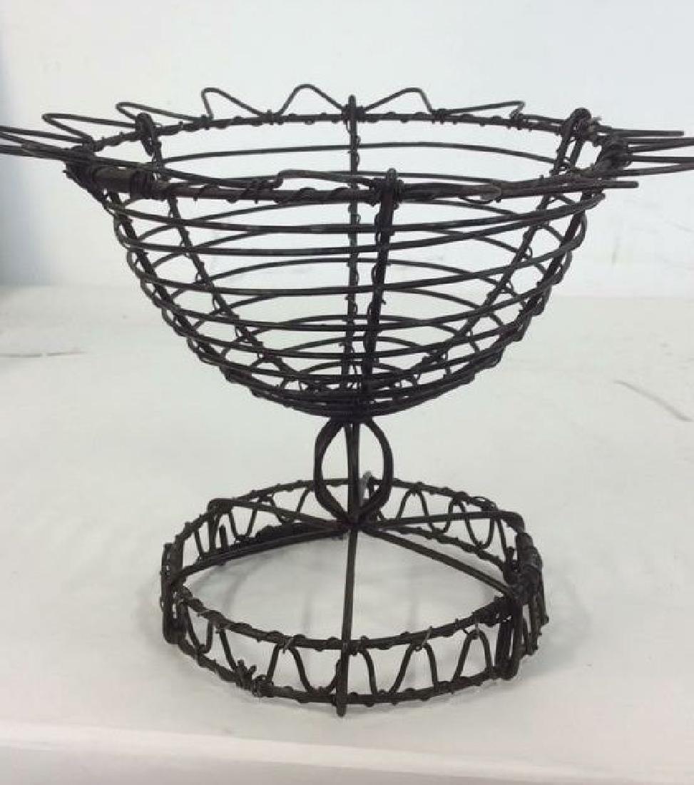 Vintage Hand Made Wire Egg Basket - 8