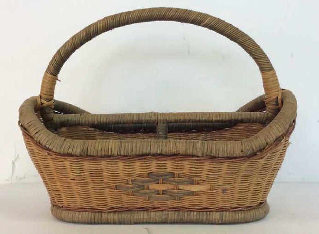 Vintage Hand Woven Carry Basket