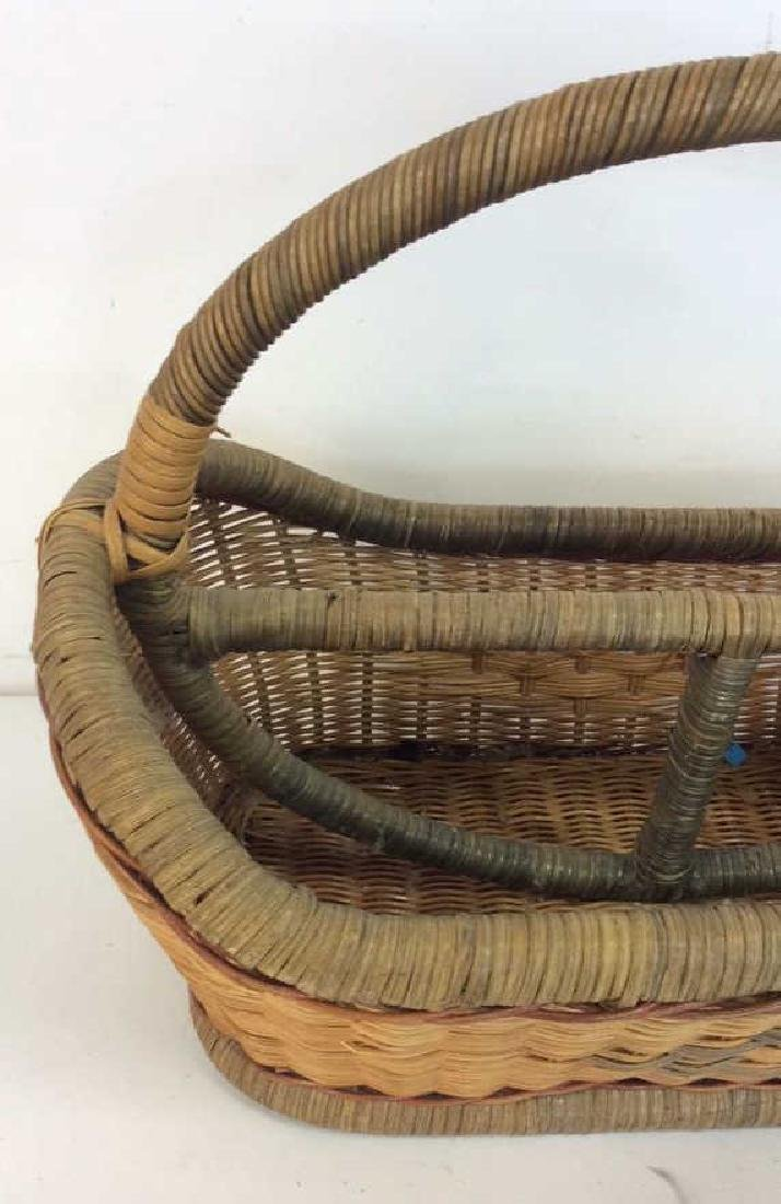 Vintage Hand Woven Carry Basket - 5