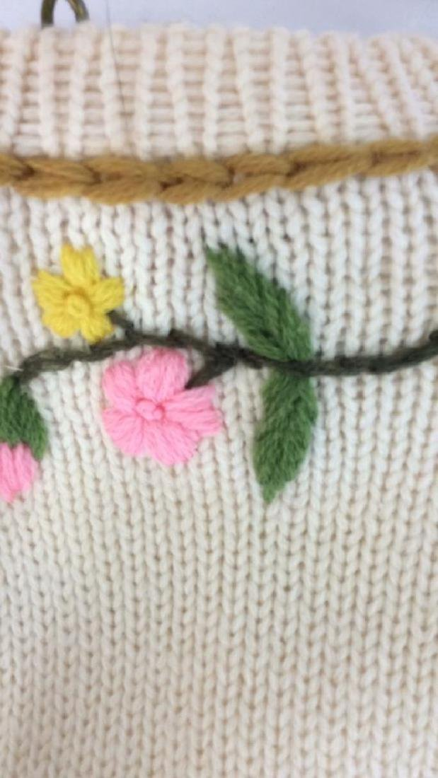 Vintage Knit and Embroidered Button Up Sweater - 10