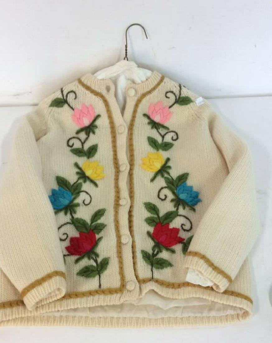 Vintage Knit and Embroidered Button Up Sweater