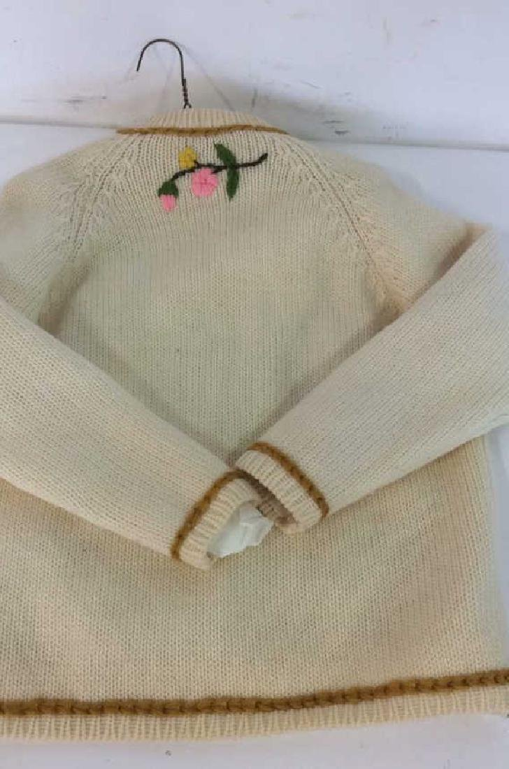 Vintage Knit and Embroidered Button Up Sweater - 9