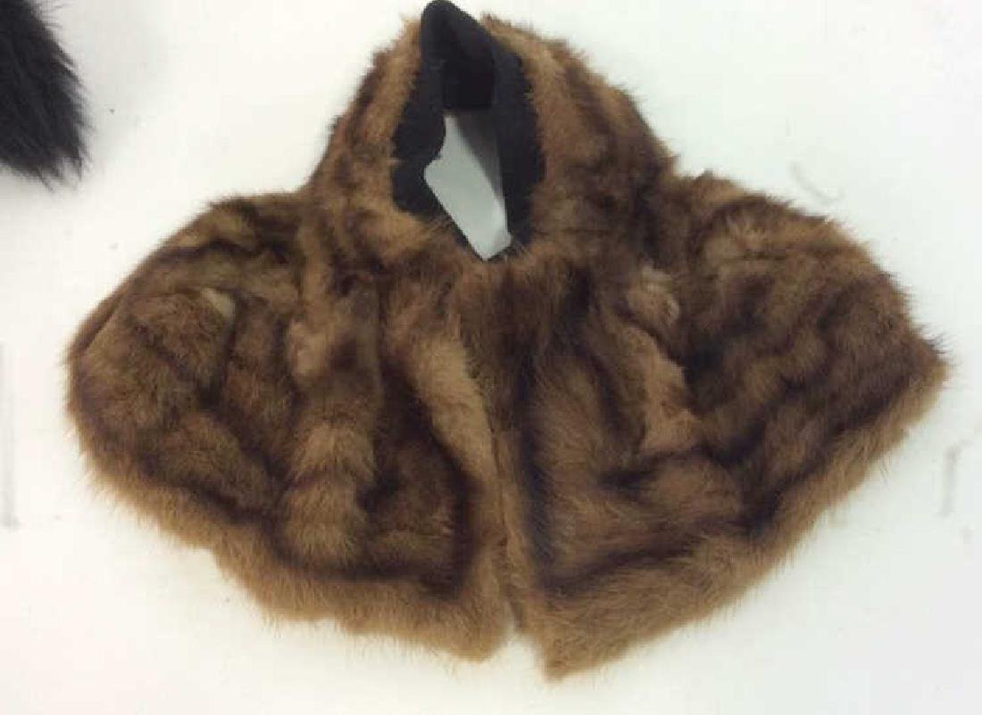 Vintage Fur Stone Martin and Fur Collar - 3