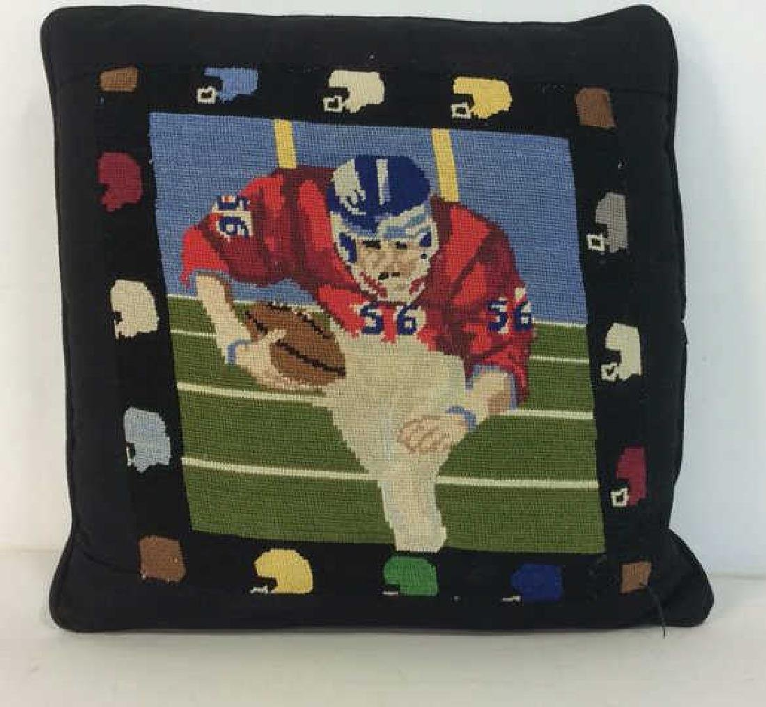 Embroidery Football Theme Throw Pillow