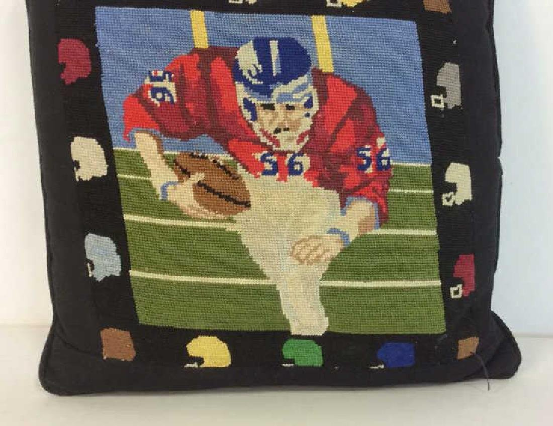 Embroidery Football Theme Throw Pillow - 2