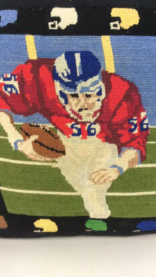 Embroidery Football Theme Throw Pillow - 5