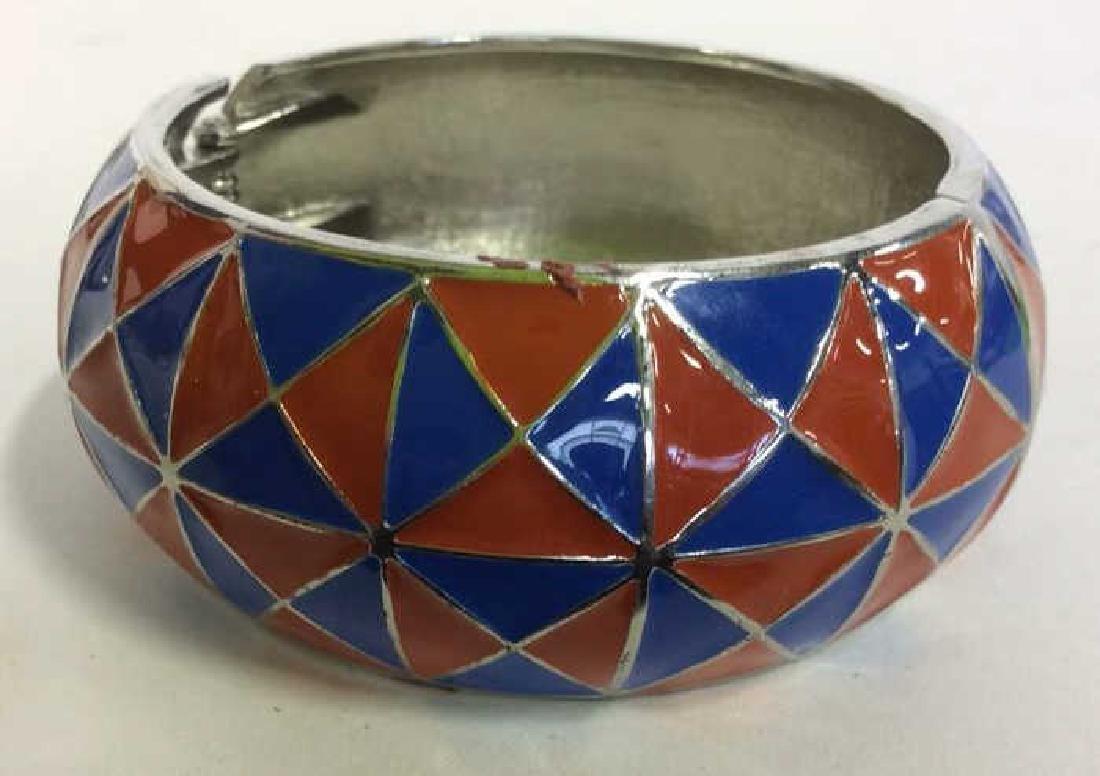 Vintage Enamel Cuff Bracelet