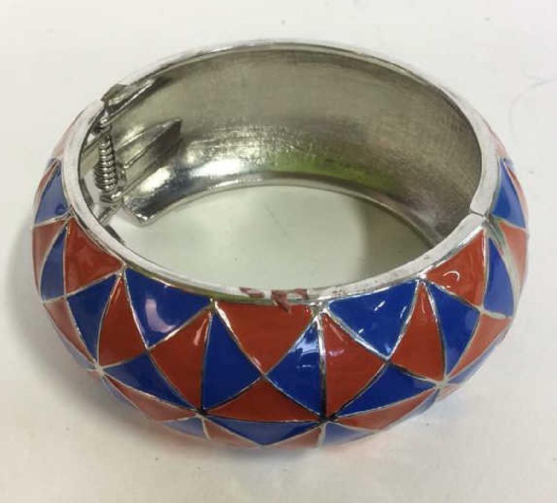 Vintage Enamel Cuff Bracelet - 2