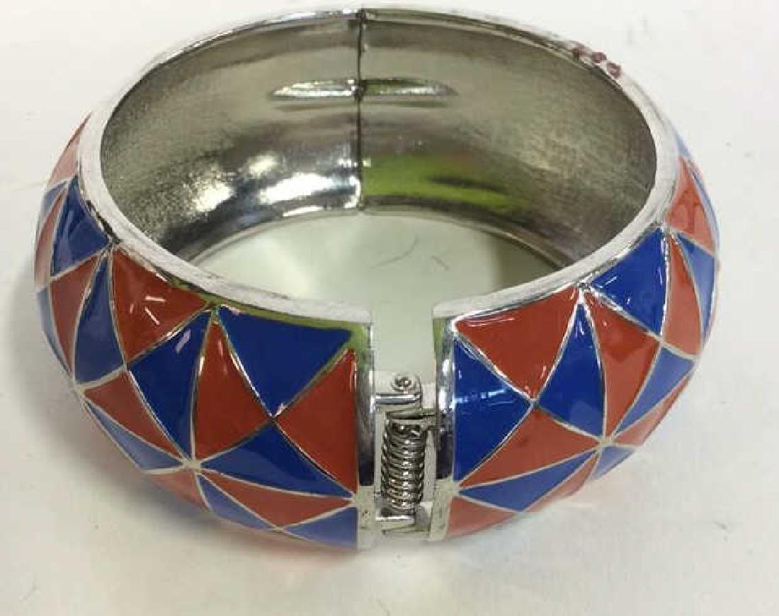Vintage Enamel Cuff Bracelet - 3