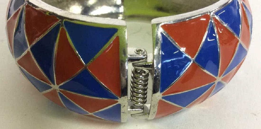 Vintage Enamel Cuff Bracelet - 4