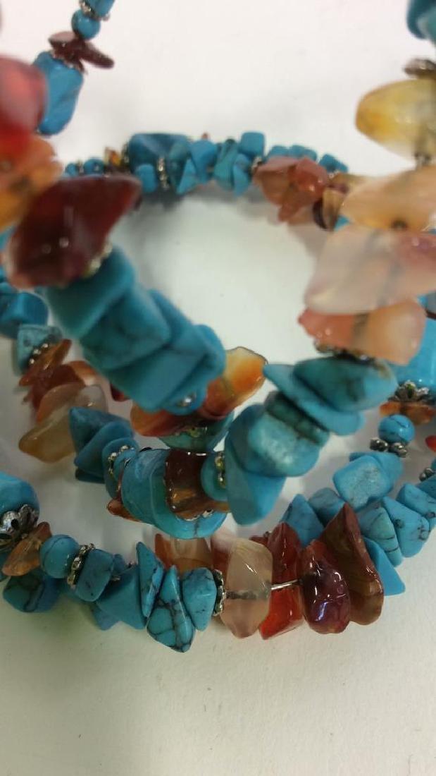 Vintage Turquoise Stone Necklace - 2
