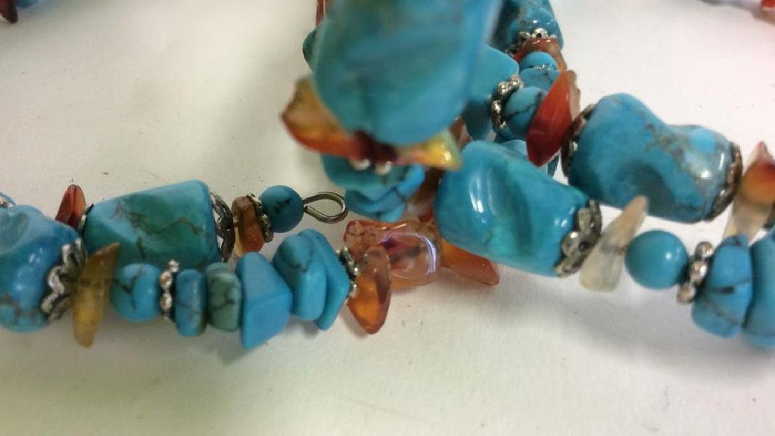 Vintage Turquoise Stone Necklace - 5