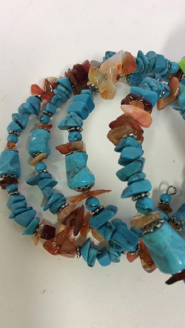 Vintage Turquoise Stone Necklace - 6