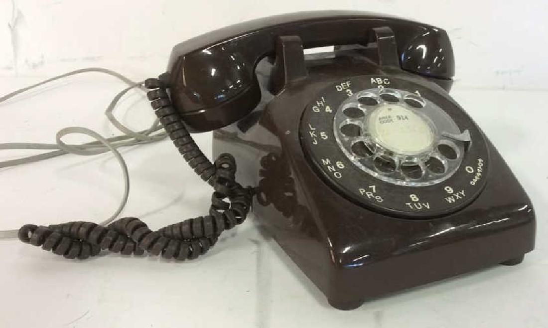 Vintage Brown Rotary Phone