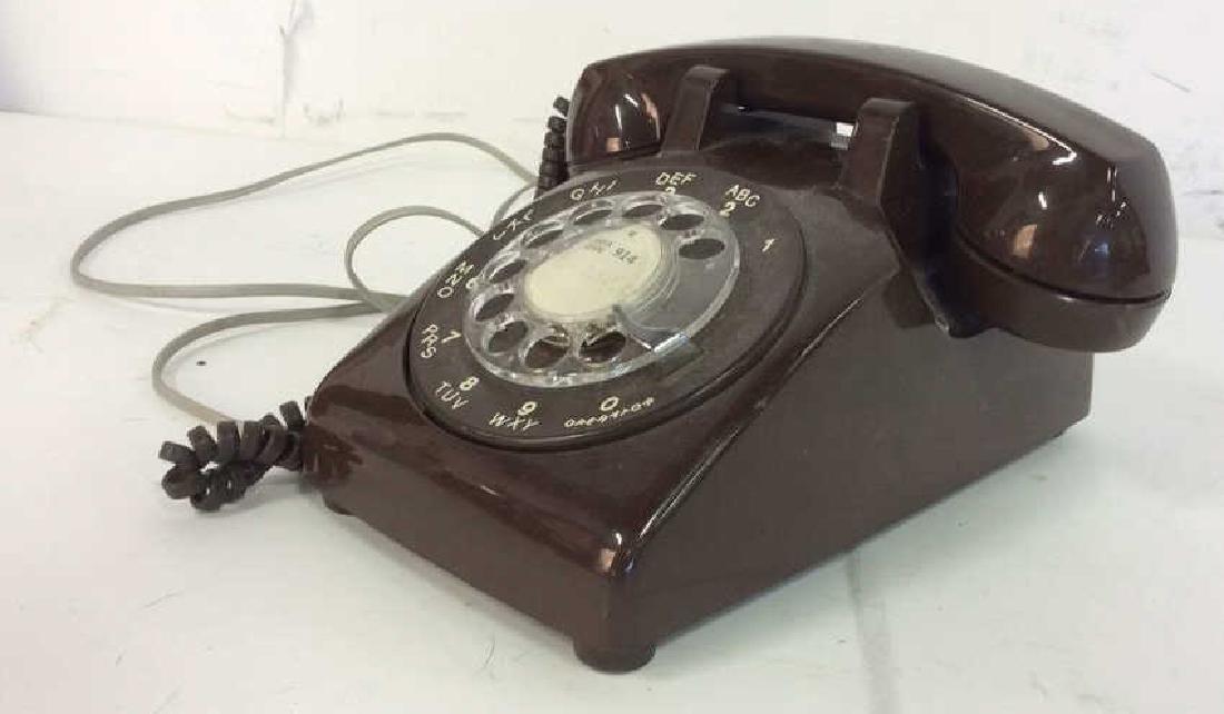 Vintage Brown Rotary Phone - 3
