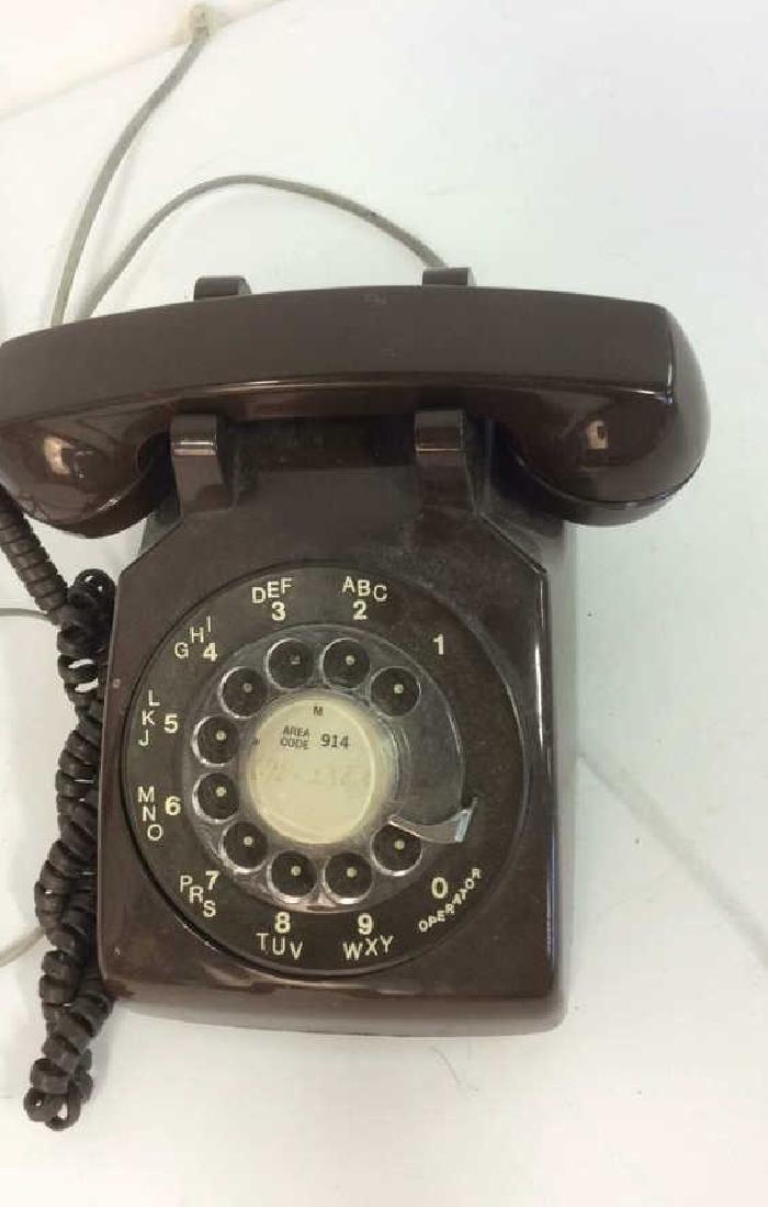 Vintage Brown Rotary Phone - 4