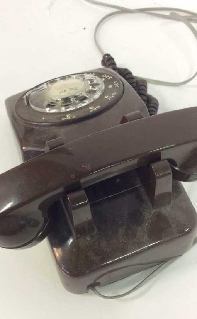 Vintage Brown Rotary Phone - 5