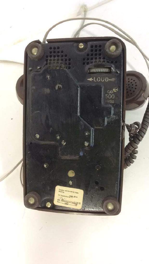 Vintage Brown Rotary Phone - 6