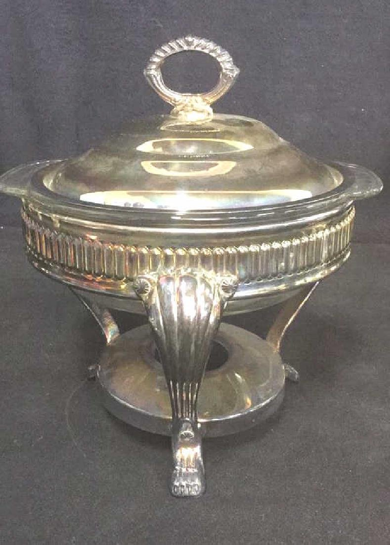 Lot 7 Mix Silver Plate Tabletop Servers - 2