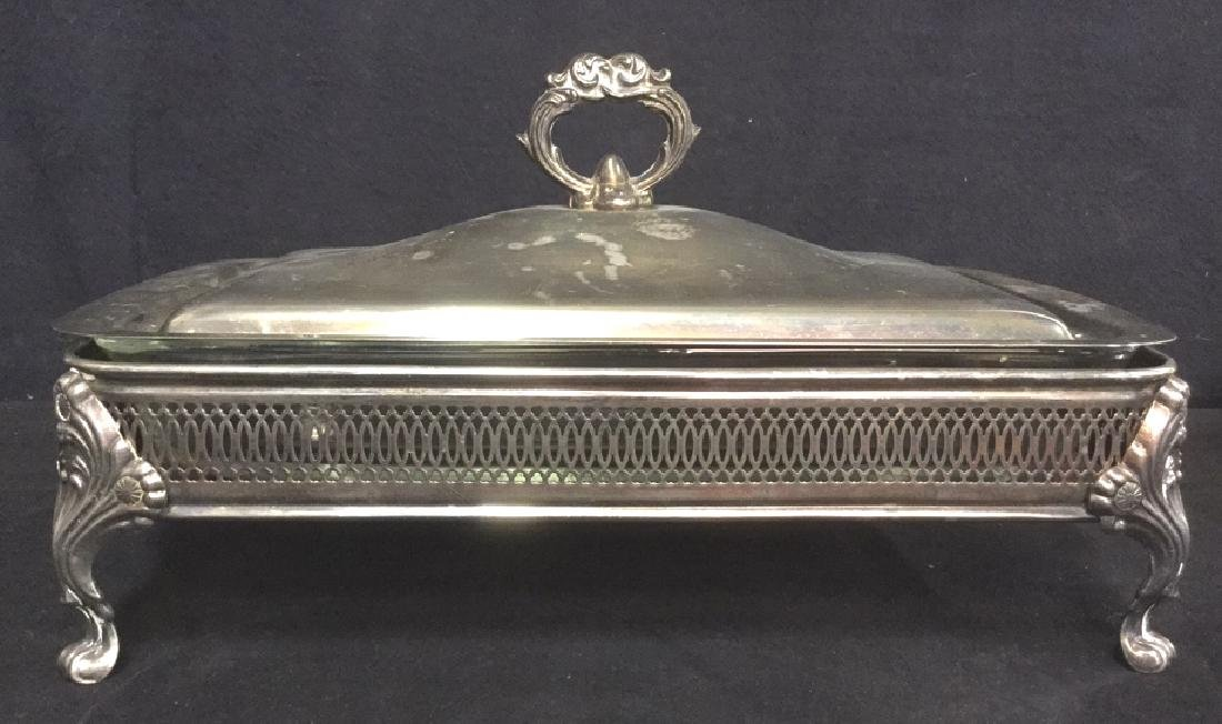 Lot 7 Mix Silver Plate Tabletop Servers - 4