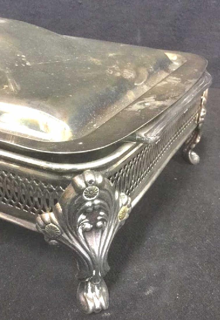 Lot 7 Mix Silver Plate Tabletop Servers - 6