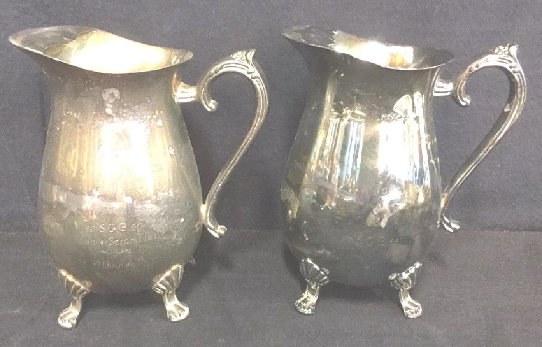 Lot 7 Mix Silver Plate Tabletop Servers - 7