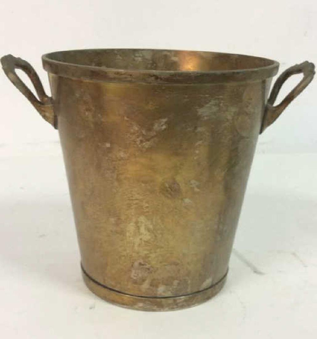 Nickel Silver Marked Handled Wine Cooler Bucket
