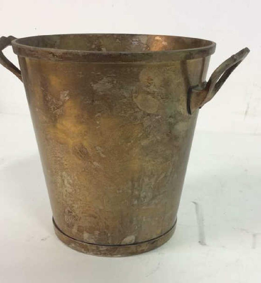 Nickel Silver Marked Handled Wine Cooler Bucket - 2