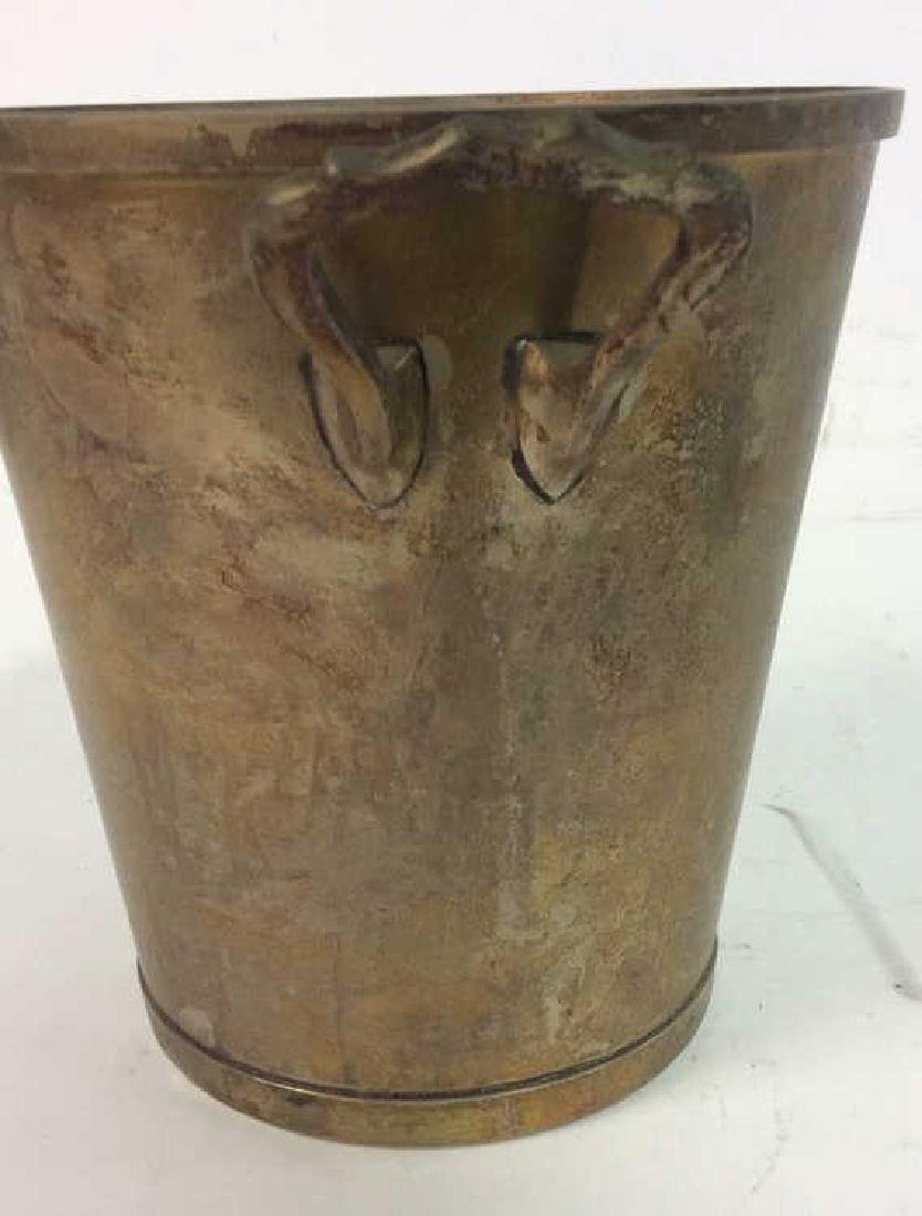 Nickel Silver Marked Handled Wine Cooler Bucket - 3