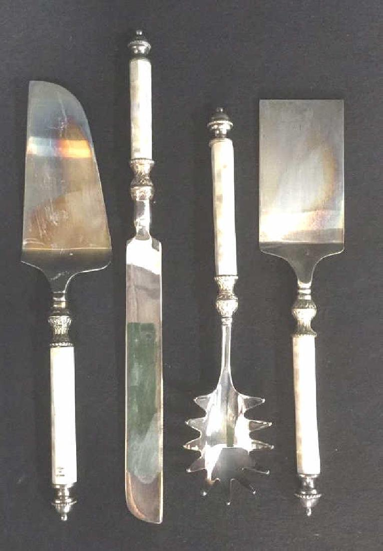 Lot 4 Silver Plate  Serving Utensils