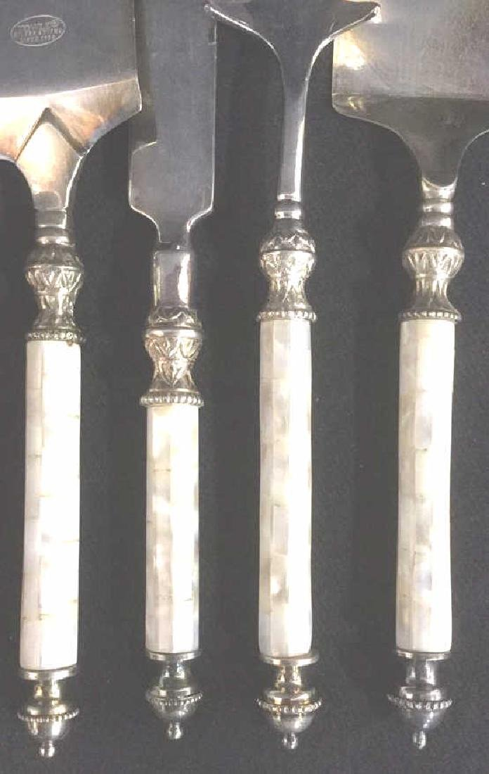 Lot 4 Silver Plate  Serving Utensils - 6