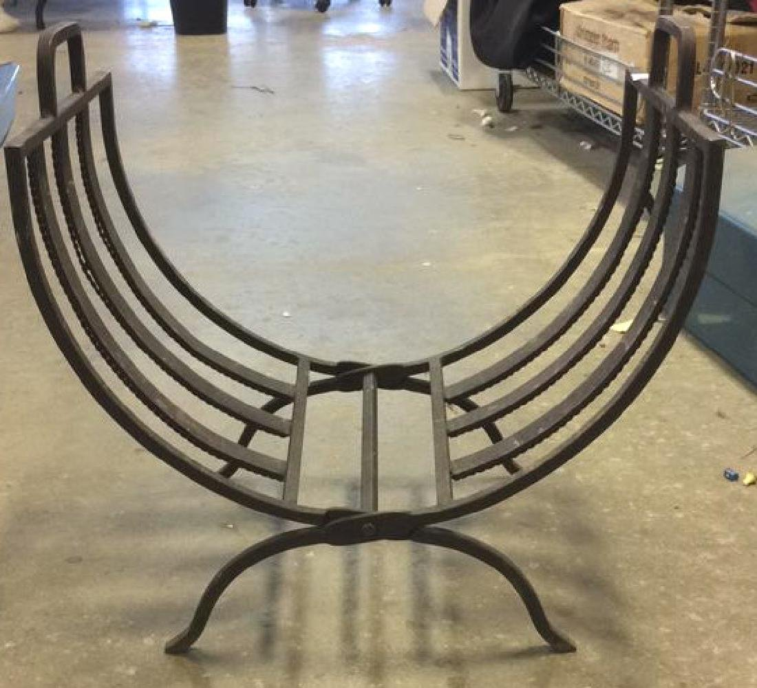 Vintage Iron Folding Log Carrier