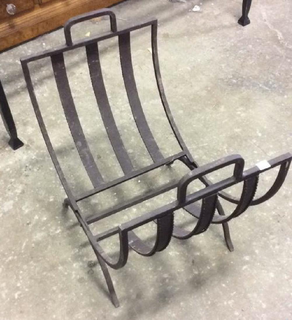 Vintage Iron Folding Log Carrier - 4