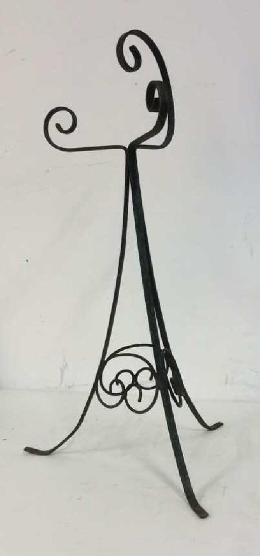 Vintage Scrolled Metal Plant Stand