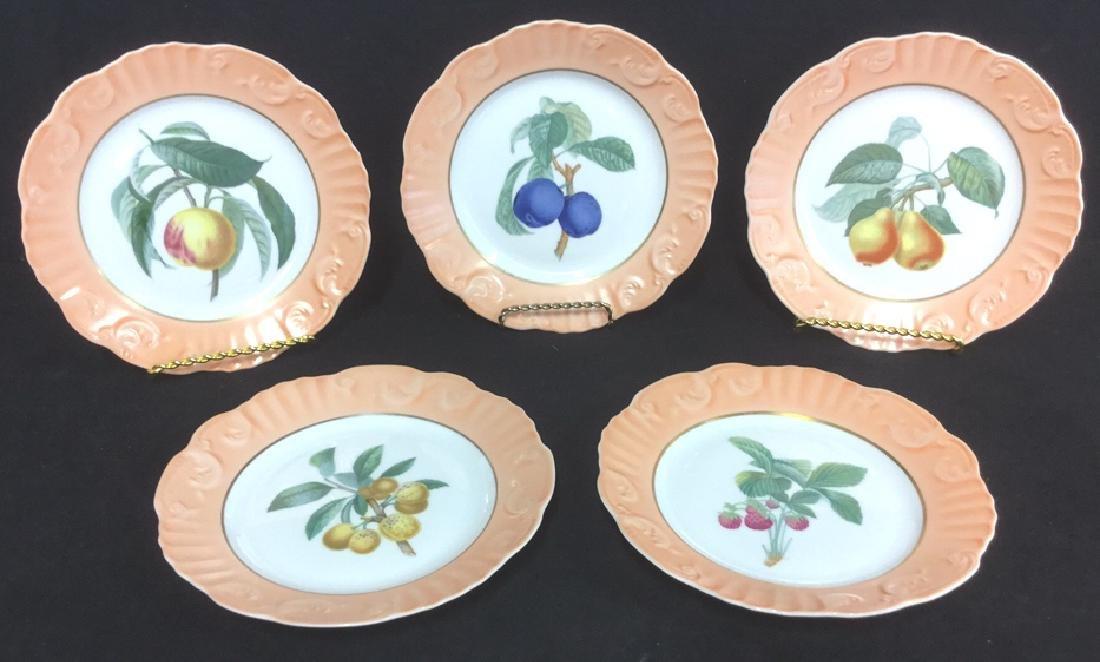 Lot 5 Mottahedeh Ceramic Porcelain Desert Plates