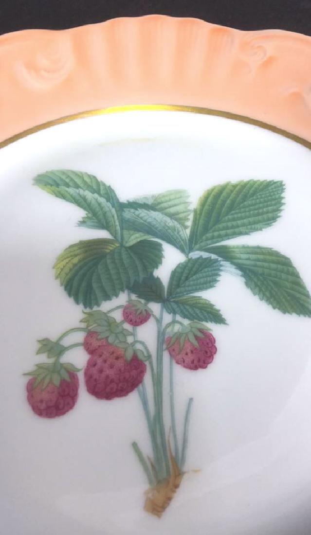 Lot 5 Mottahedeh Ceramic Porcelain Desert Plates - 4