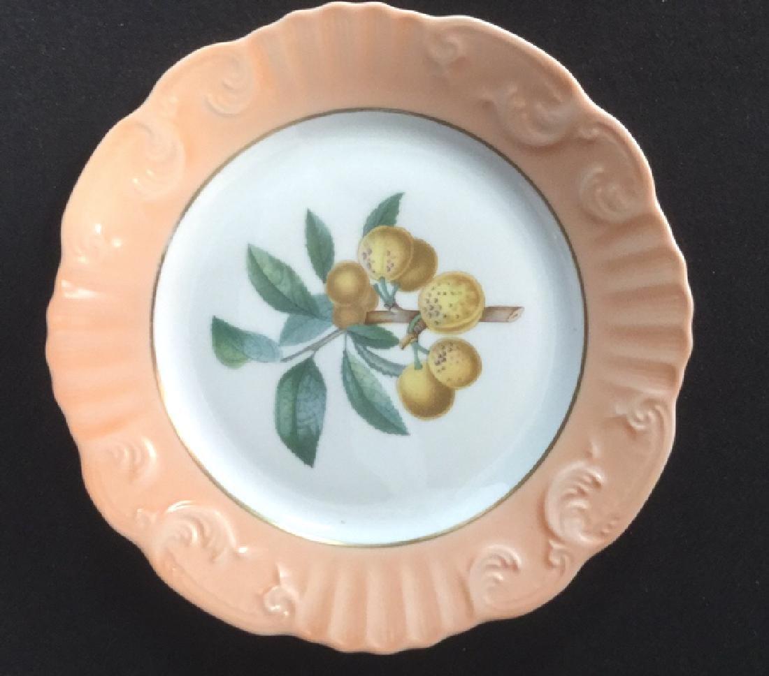 Lot 5 Mottahedeh Ceramic Porcelain Desert Plates - 7