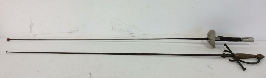 Lot 2 Vintage French Fencing Swords - 2