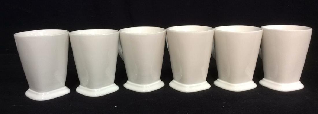 Lot 6 White Toned Geometric Coffee Mugs - 2