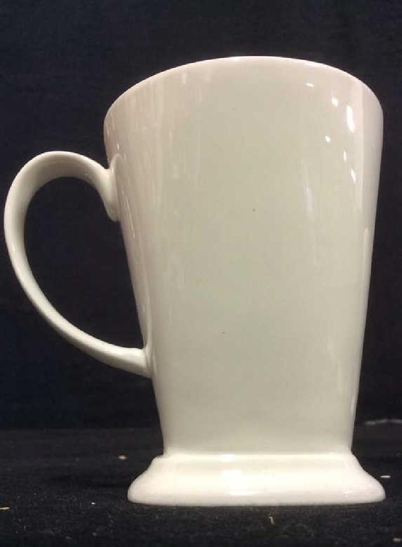 Lot 6 White Toned Geometric Coffee Mugs - 5