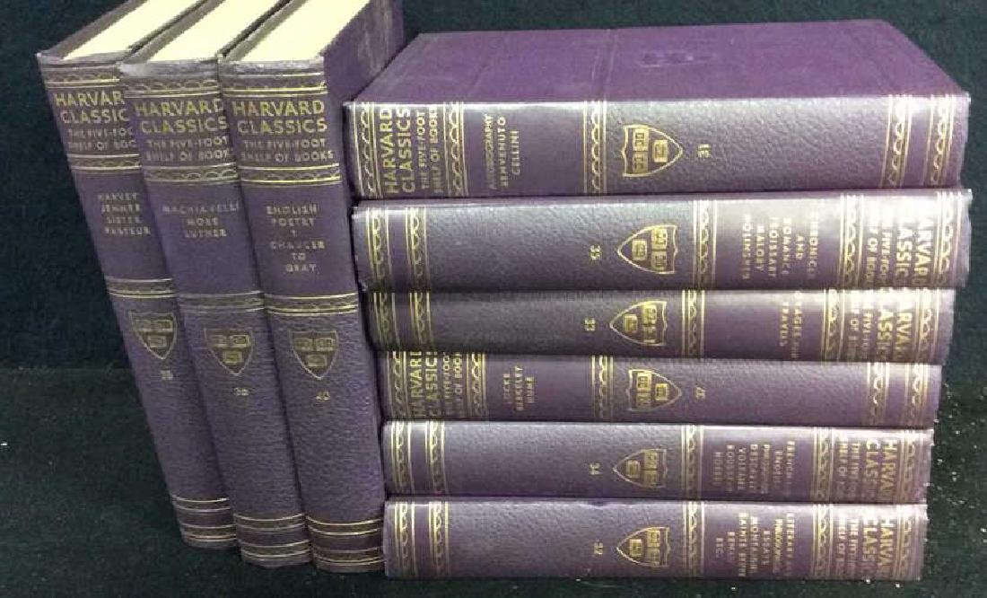 Set 9 Purple Leather Harvard Classic Books