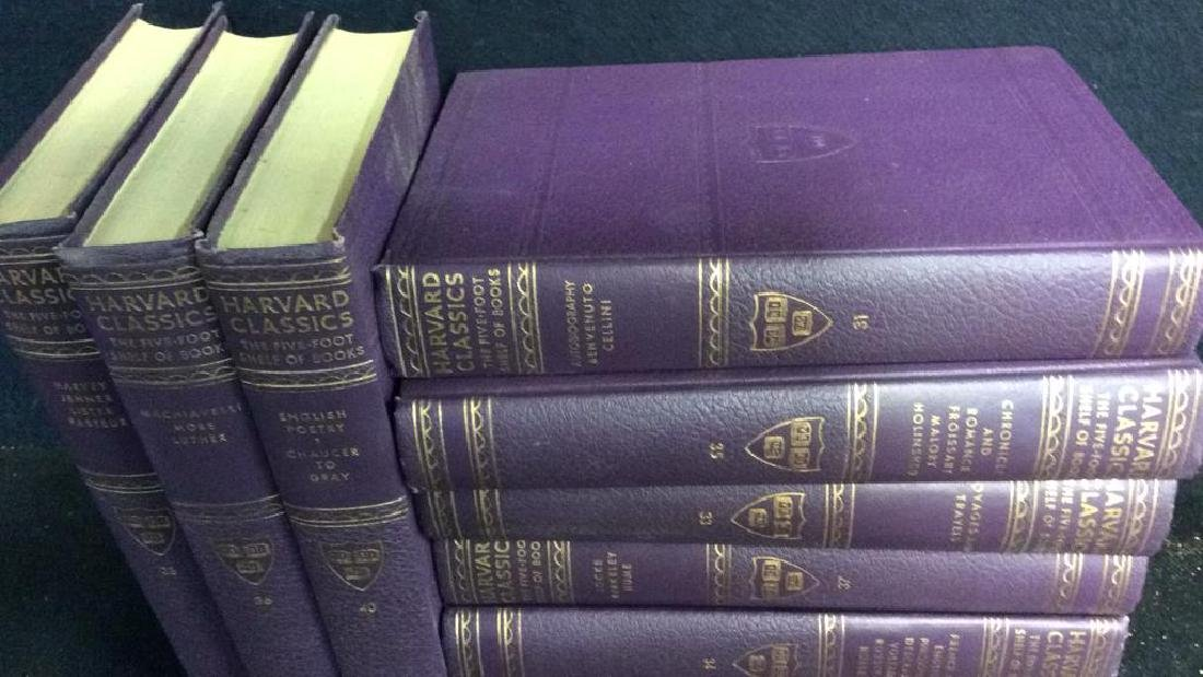 Set 9 Purple Leather Harvard Classic Books - 2