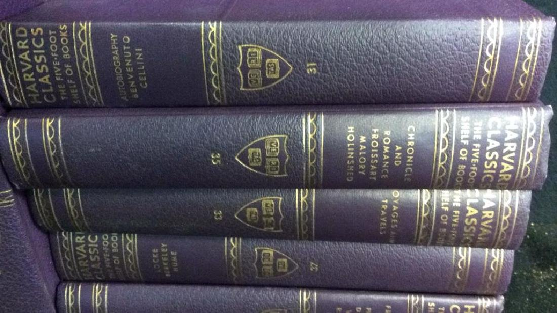 Set 9 Purple Leather Harvard Classic Books - 3