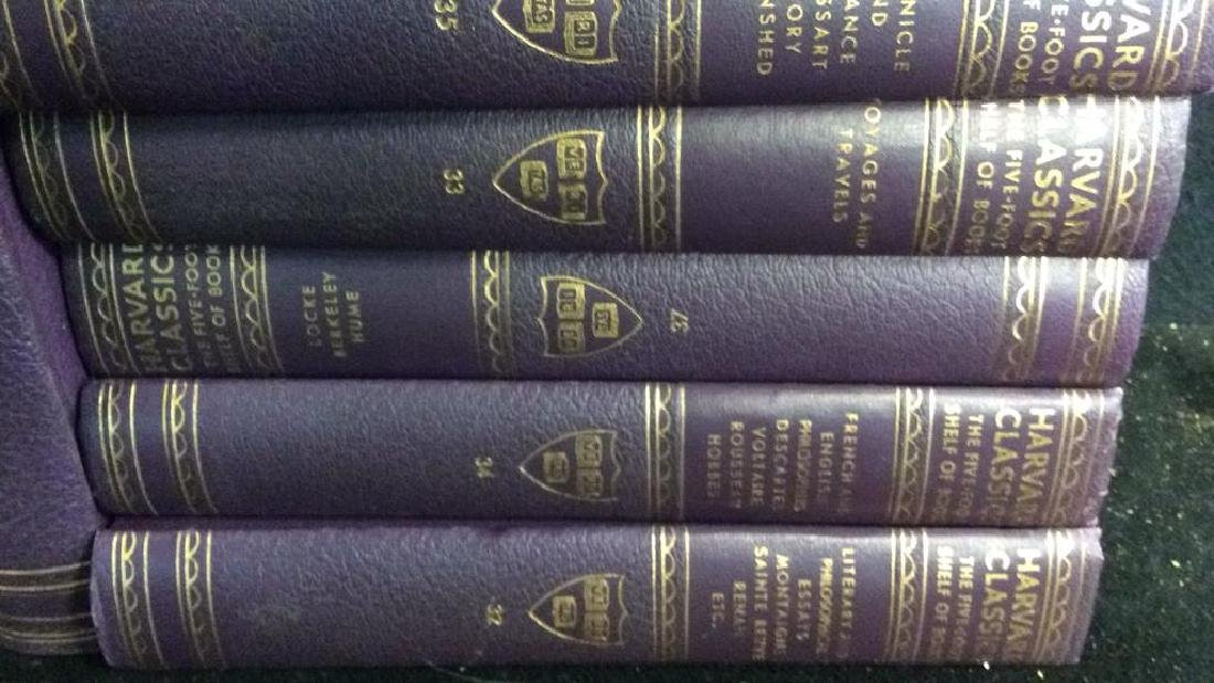 Set 9 Purple Leather Harvard Classic Books - 4